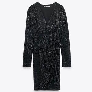 Zara Sparkly Draped Dress